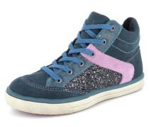 Sneaker Leder blau / pink
