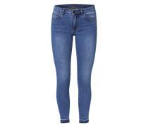 Jeans 7/8 Skinny Fit blau