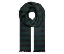 Lurex-Schal mit Streifenmuster dunkelgrün / schwarzmeliert