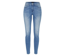 'In' High Waisted Skinny Denim blue denim
