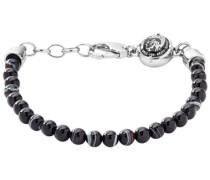 Armband »Beaded Studs« schwarz / silber