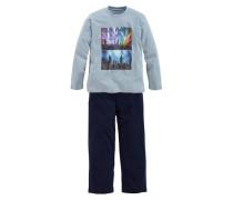 Pyjama lang blau