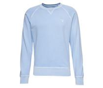 Sweatshirt in dezenter Used-Optik türkis
