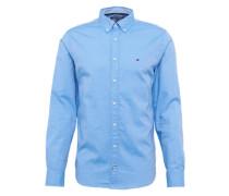 Regular-fit Hemd mit Button-down-Kragen blau