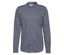 Hemd mit Stehkragen 'Laber' dunkelblau