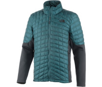 Thermoball Outdoorjacke dunkelgrau / petrol