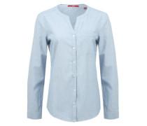 Bluse mit Strukturmuster blau