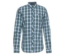 Hemd dunkelblau / hellgrün / weiß