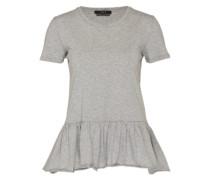 Shirt mit Rüschensaum grau