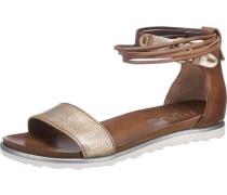 Sandaletten 'Title-Licia' braun / gold