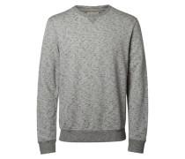 O-Ausschnitt-Sweatshirt grau