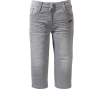 3/4 Jeans mit Patch grey denim