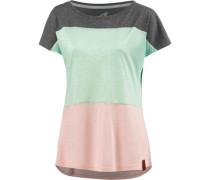 Oversize Shirt dunkelgrau / mint / rosa