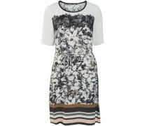 Blusenkleid 'Salina' braun / schwarz / weiß