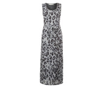 Langes Kleid grau / taupe