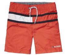 Swimwear »Flag Swimshort« orangerot / schwarz / weiß