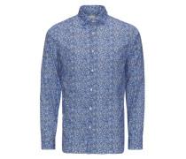 Komplett bedrucktes Langarmhemd blau