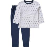 Schlafanzug für Jungen blau / marine / hellgrau