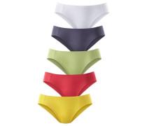 Bikinislip (5 Stck.) nachtblau / senf / apfel / melone / schwarz / weiß