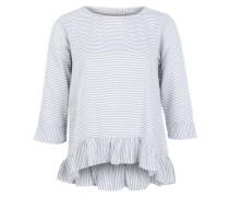 Bluse 'Sabina 1' blaumeliert / weiß
