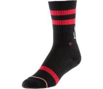 Sneakersocken rot / schwarz