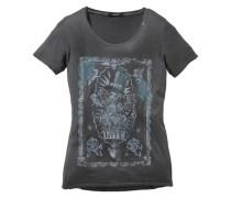 Print-Shirt »Tatoo« grau