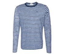 Langarmshirt 'chiri' blau / offwhite