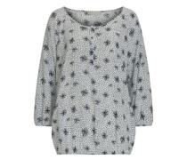 Bluse im Casual Stil mit Allover Print schwarz / weiß