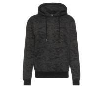 Sweatshirt 'Sweat Camo Bomber Hoody' dunkelgrau / schwarz