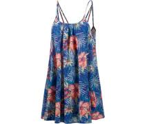 'Windy Fly Away' Print Dress Minikleid Damen royalblau / jade / koralle