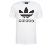 T-Shirt mit Rundhalsausschnitt schwarz / weiß