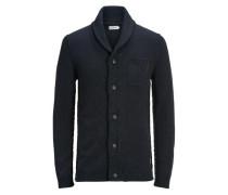 Klassischer Strick-Cardigan blau