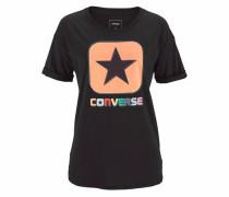 T-Shirt koralle / schwarz