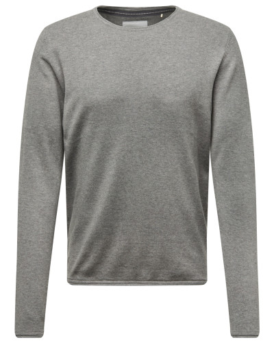 Pullover 'basic cnk' grau
