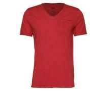 T-Shirt im Garment Dyed - Ciravi rot