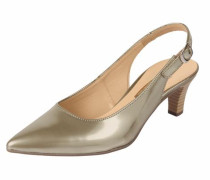 Slingpumps in Lack-Optik gold