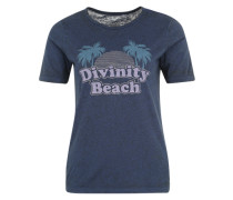 Shirt mit Print 'Puertopic' indigo