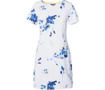 Kleid 'rivieraprint' blau / weiß