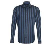 City-Hemd ' Tailored ' türkis / dunkelblau