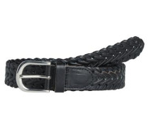 Leder-Jeans Gürtel schwarz