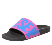 Pantoletten 'sa-Maral' pink / schwarz