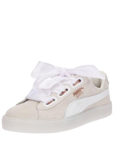 Sneaker 'Suede Heart Artica' beige / weiß