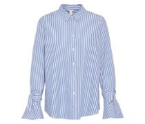 Bluse 'denim' blau / weiß