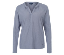 Shirt mit Slub Yarn Optik rauchblau