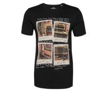 T-Shirt mit Fotoprint schwarz
