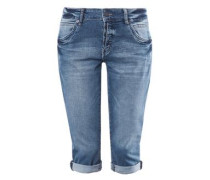 'Catie Slim' Caprijeans blue denim