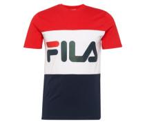 T-Shirt mit Logo-Print rot / schwarz / weiß