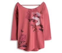 Shirt mit 3/4 Ärmeln pink