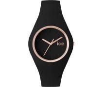 Quarzuhr »Ice glam - Rosé Gold Black Ice.gl.brg.u.s.14« schwarz
