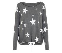 Sternchen T-Shirt dunkelgrau